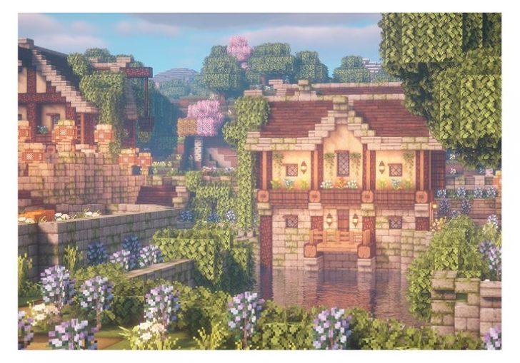 minecraft house with balcony Balcony Download Minecraft House With Balcony Background