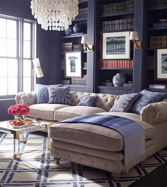 blue living room-dark blue living room Home Design Blue Living Room
