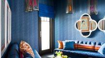 blue living room-royal blue couch Home Design Blue Living Room