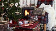 christmas living room-winter living room decor Home Design Christmas Living Room